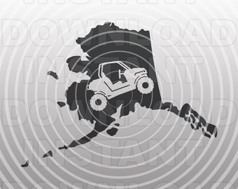 ATV Quad SVG File,Off Road Side By Side SVG,Alaska svg -Vector Art Commercial/Personal Use- Cricut,Cameo,Silhouette,Vinyl Decal,Vinyl Cut
