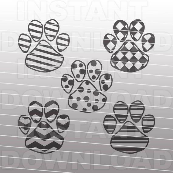Download Paw Prints SVG FilePatterned Dog Paw Print svg Vector Art ...