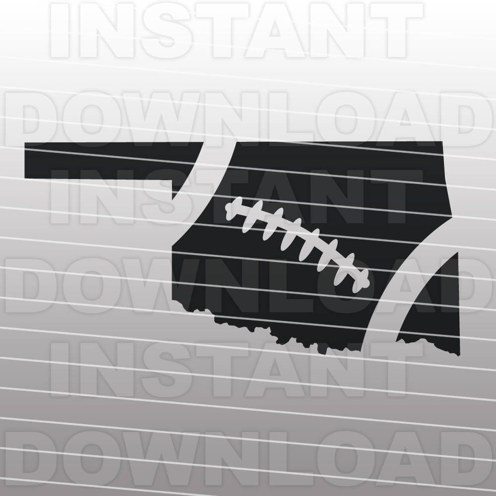 Football Oklahoma Outline Svg File Cutting Template Clip Art Etsy
