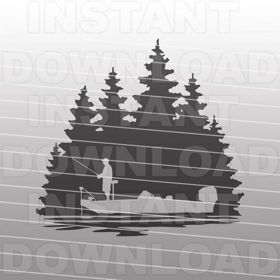 Download Bass Fishing Scene Svg File Bass Boat Svg File Fisherman Etsy