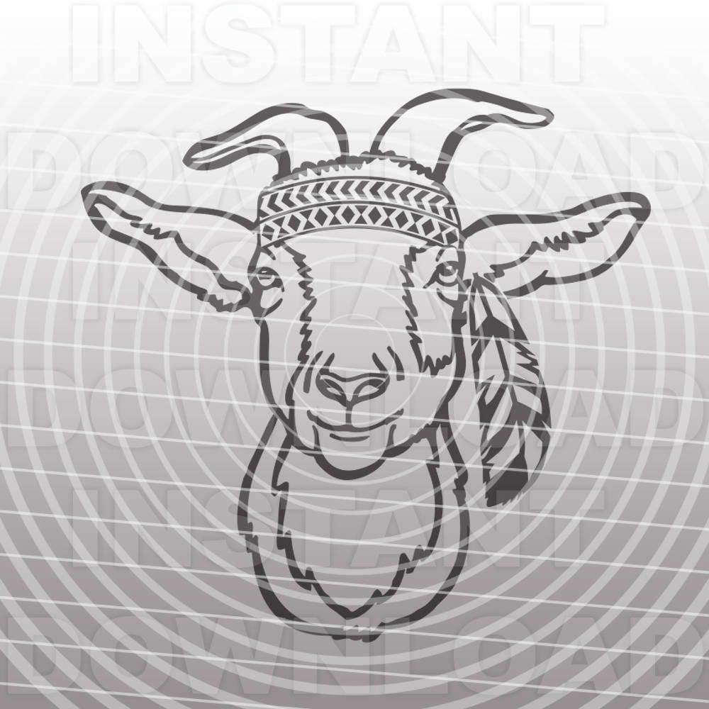 Download Goat SVG FileHippie Goat SVGGoat Face svgFarm svg   Etsy