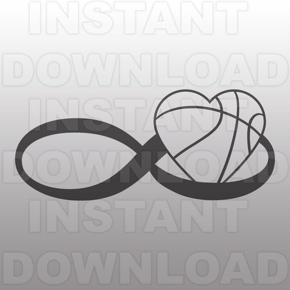 Infinity Symbol Love Basketball Heart Svg File Commercial Etsy