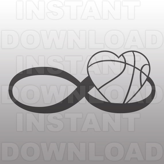 Infinity Symbol Love Basketball Heart Svg File Commercial