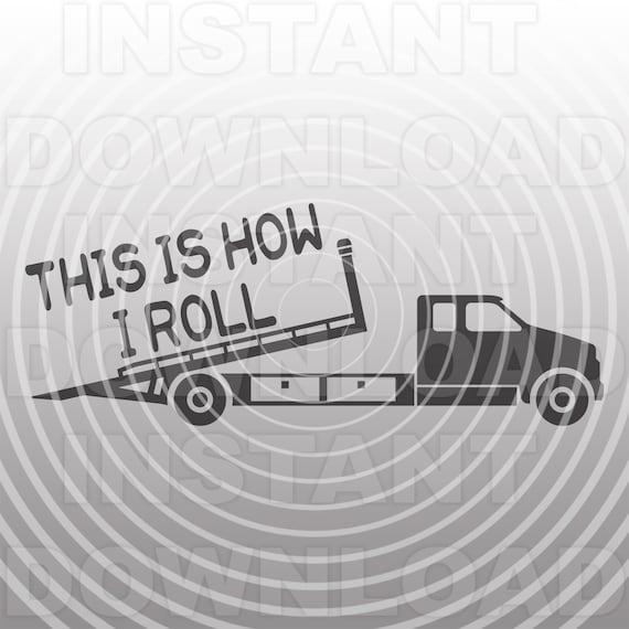Rollback Truck Svg Filetow Truck Svgflatbed Truck Svgthis Etsy