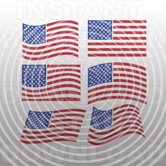 American Flags Svg File Cutting Template July 4th Usa Vector Etsy