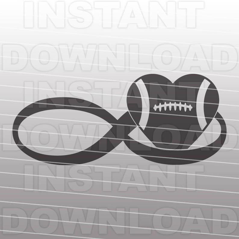Download Infinity Love Football SVG File Vector Art Commercial &   Etsy