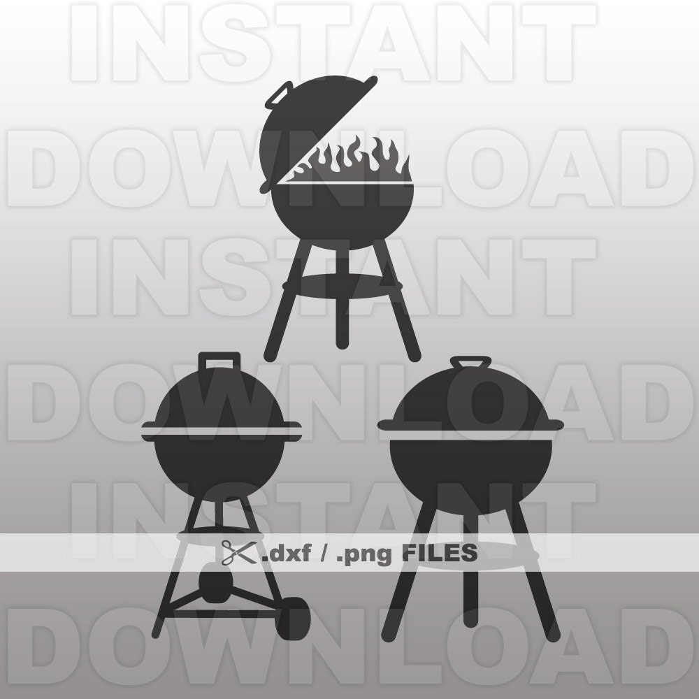 BBQ Grill DXF File - BBQ Grill png File - Commercial & Personal Use - png  file,dxf file for Cricut,dxf file for Silhouette,vinyl file