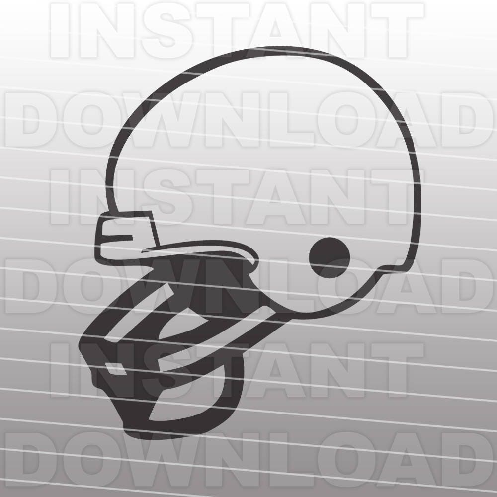 Football Helmet Svg File Cutting Template Clip Art For Etsy