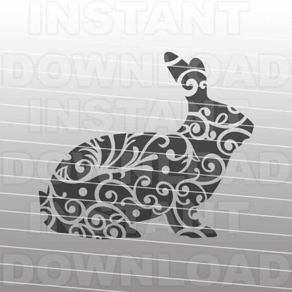 Fancy Decorative Ornate Show Rabbit Svg Filestock Show Svg Etsy