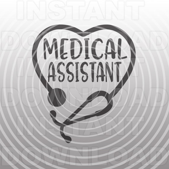 Medical Assistant Svg Filestethoscope Heart Svg File Etsy