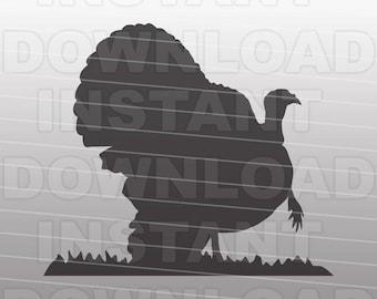 Turkey SVG File,Wild Turkey SVG File,Turkey Hunter SVG-Vector Clip Art Commercial & Personal Use-Cricut,Cameo,Silhouette,Heat Transfer,Vinyl