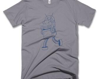 Men's Robot T-shirt, robot tee for men, robot shirt for dad, t-shirt for dad, small, medium, large, XL