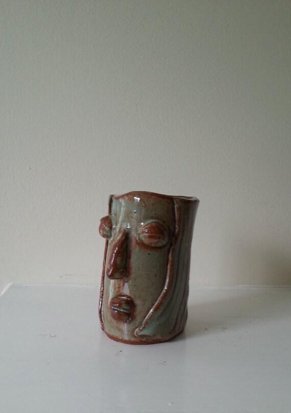 Ubertopf Keramik Gesicht Gesicht Kopf Blumentopf Vase Topf Etsy