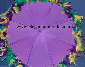 34 Inch  Mardi Gras Umbrella