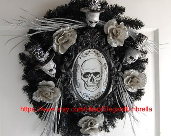 Halloween Skeleton Wreath