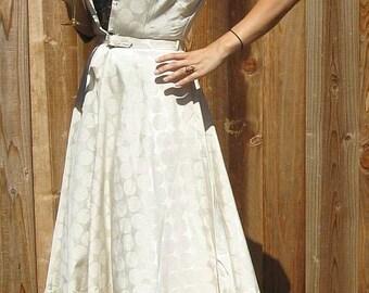 NWT Vintage 50s Evelyn Pearson Lounging Full Skirt Dress sz 12 B 36