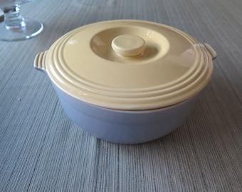 Vintage HALL Pottery Ceramic Refrigerator Casserole Ovenware Baking Dish Pot