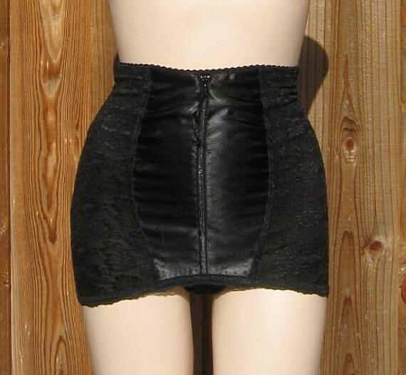77cc5f0a037 Vintage 70s Subtract Black Lace Panty Girdle sz 28-M