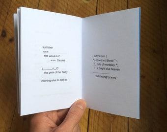 Men and Sweat & Skin; diagram poem tweets by Matthew Kay