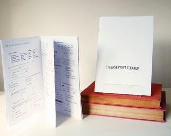 Please Print Clearly | activity book for grown-ups
