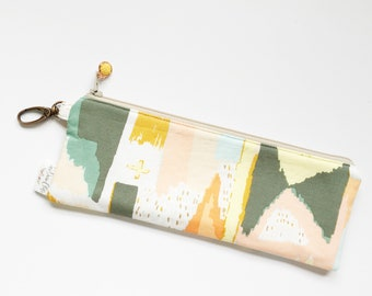 """9.5"""" x 3.5"""" Top Zippered Pouch //  Painting Celebration by April Rhodes"""