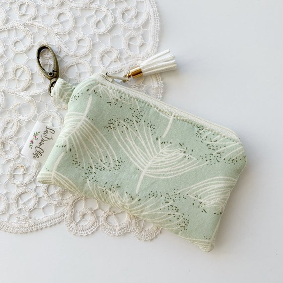 Card Pouch // Green Floral