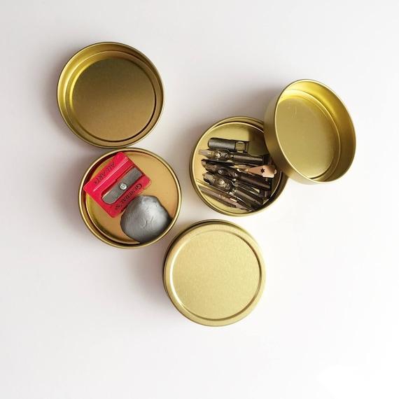 Gold Circular Tin