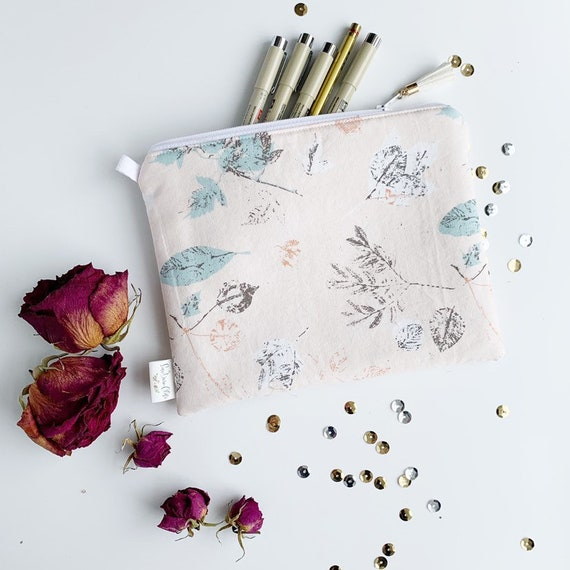 Rectangle Pouch Pencil Case // Fall Floral