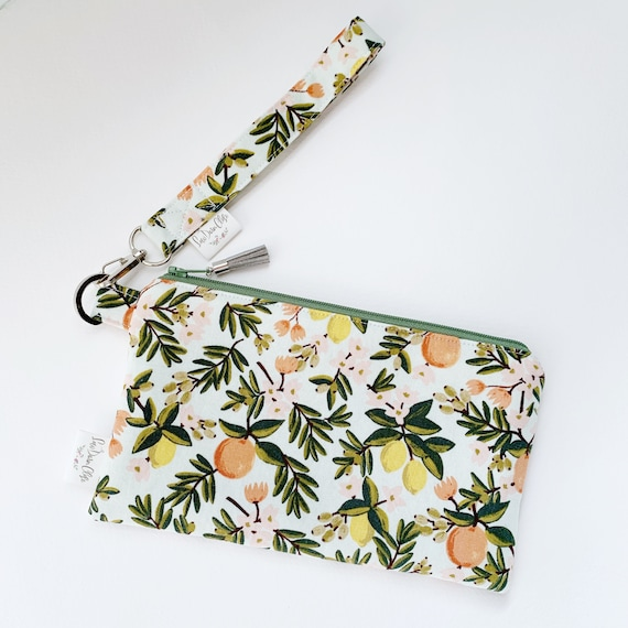 Large Keychain Pouch // Mint Citrus