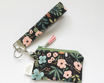 Keychain Pouch // Paradise Garden in Midnight by Rifle Paper Co