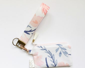 Keychain Pouch // Aquarelle Study in Wash by Bonnie Christine