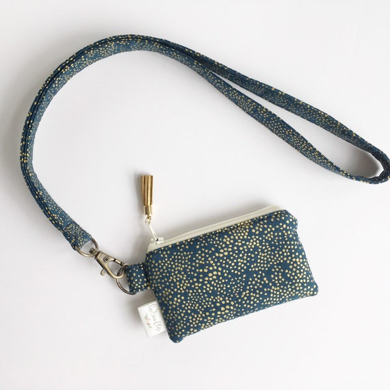 Lanyard Pouch // Champagne in Navy