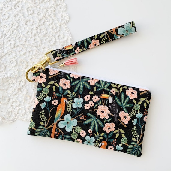 Large Keychain Pouch // Jungle Midnight