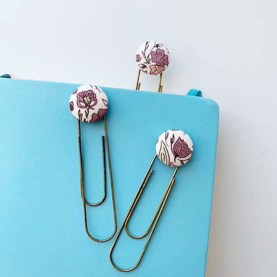 Bookmarks/Planner Clips// Blossom