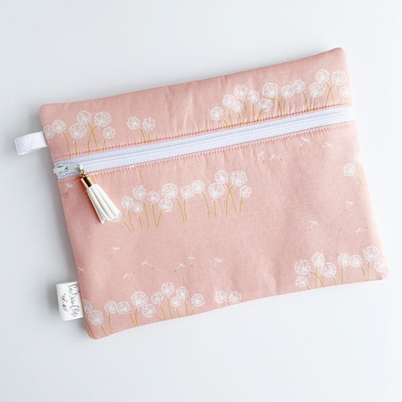 Rectangle Pouch Pencil Case // Dandelions