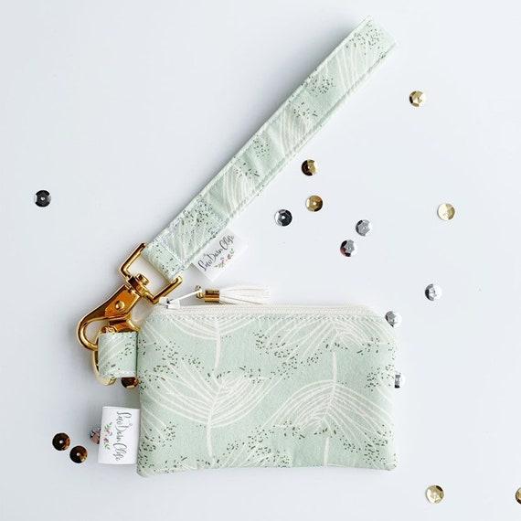 Keychain Pouch // Champagne Mint