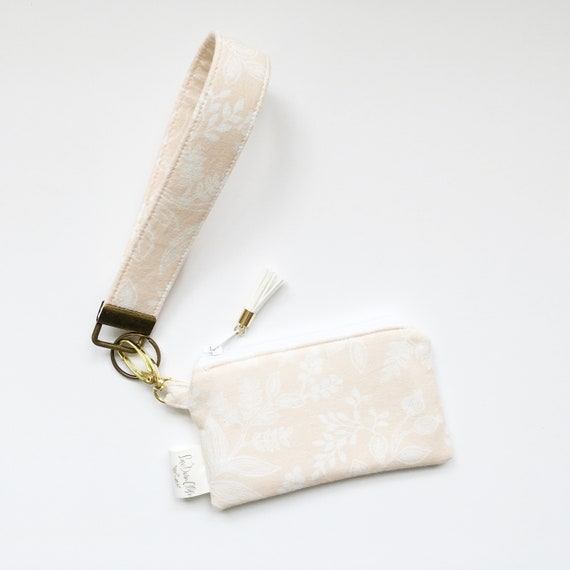 Keychain Pouch // Queen Anne In Peach by Rifle Paper Co