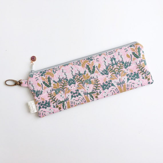 "9.5"" x 3.5"" Top Zippered Pouch // Tapestry in Violet"