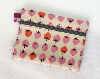 Rectangle Pouch Pencil Case // Strawberries