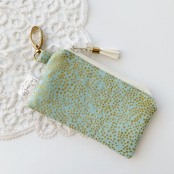 Card Pouch // Green and Gold