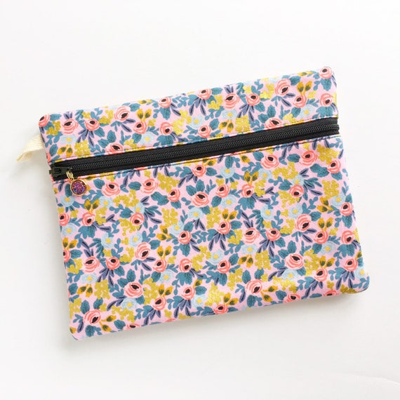 Rectangle Pouch Pencil Case // Rosa in Violet by Rifle Paper Co.