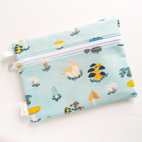 Rectangle Pouch Pencil Case // Mushrooms
