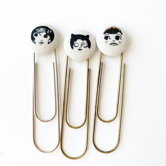 Bookmarks/Planner Clips// Faces