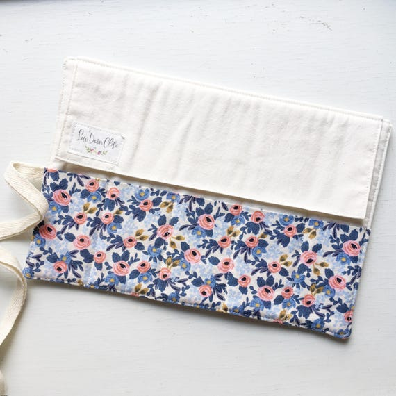 Shorty Pen Roll // Rosa in Periwinkle by Rifle Paper Co