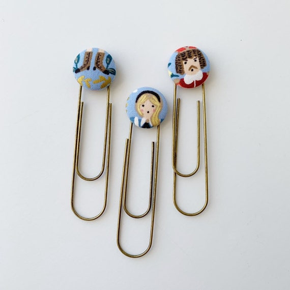Bookmarks/Planner Clips// Alice in Wonderland