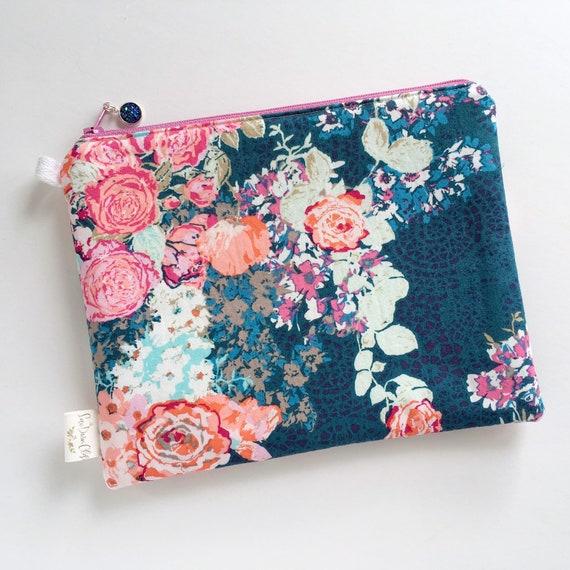 Rectangle Pouch Pencil Case //  Nisi Flora Oceanon by Katarina Roccella