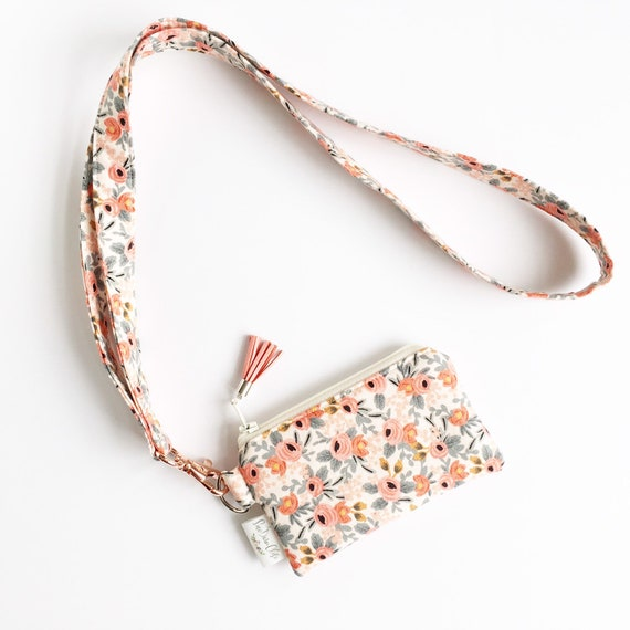 Lanyard Pouch // Rosa in Peach by Rifle Paper Co