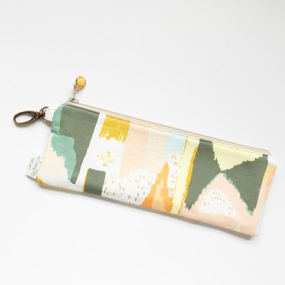 "9.5"" x 3.5"" Top Zippered Pouch //  Painting Celebration by April Rhodes"