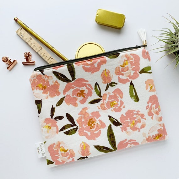 Rectangle Pouch Pencil Case // Fields of Alsike by Bonnie Christine