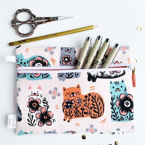 Rectangle Pouch Pencil Case // Kitties